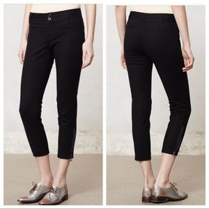Anthro Cartonnier Ankle Zip Charlie Trousers Pants
